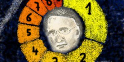 Das seltsame Gesetz von Benford. Handgemalt mit Photoshop von Joe Freiburg. Veröffentlicht auf www.geilemathe.de