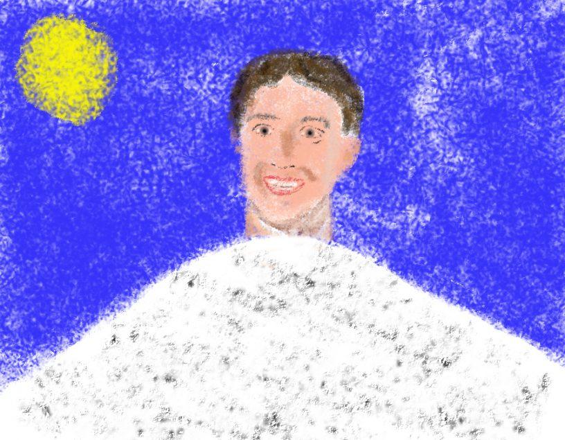 Wie zählt man einen Zuckerberg? Handgemalt mit Photoshop von Joe Freiburg. Veröffentlicht auf www.geilemathe.de