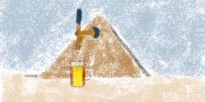 Die Bieramiden-Faszination. Handgemalt mit Photoshop von Joe Freiburg. Veröffentlicht auf www.geilemathe.de